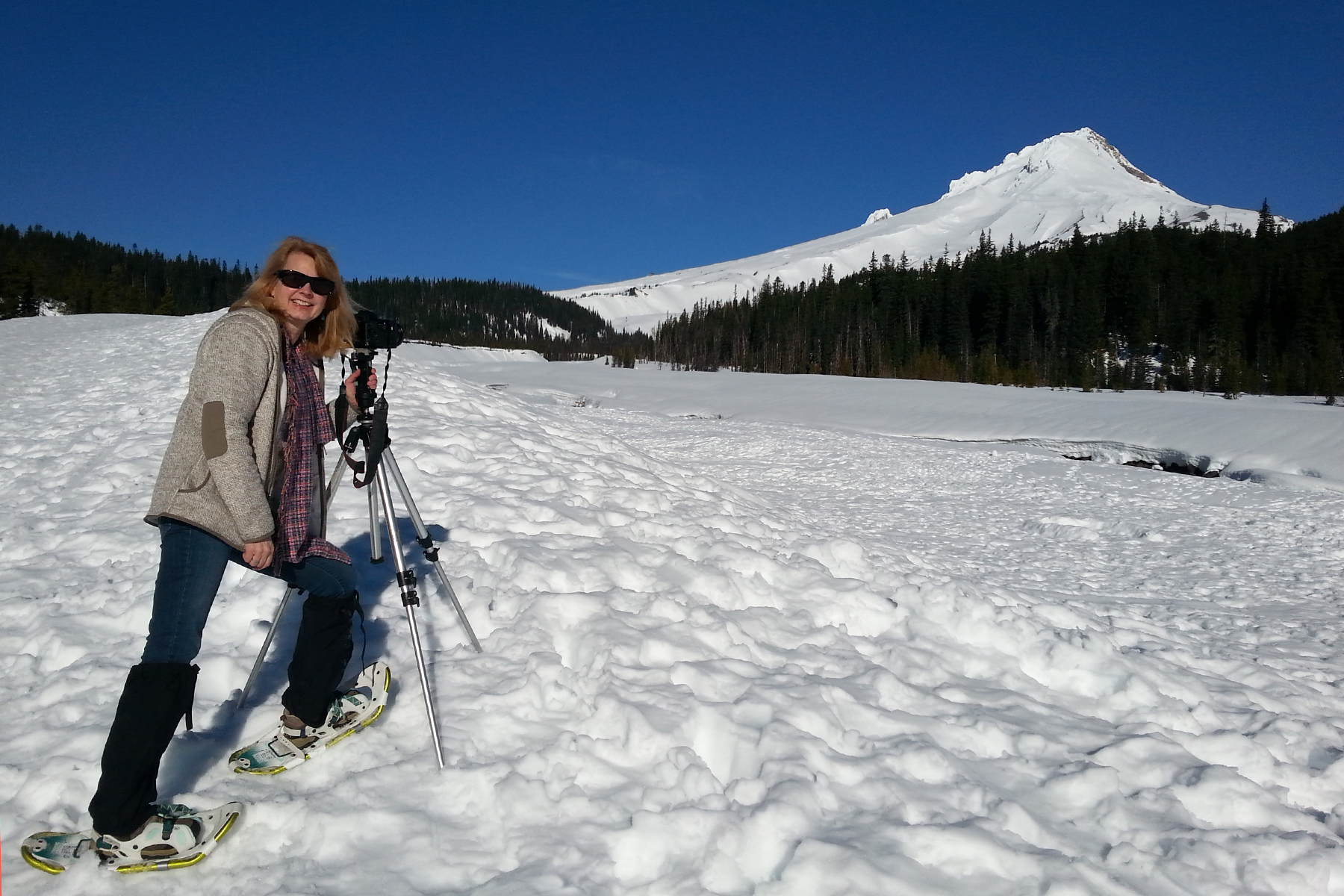 1 snow shoeing Mt Hood oregon